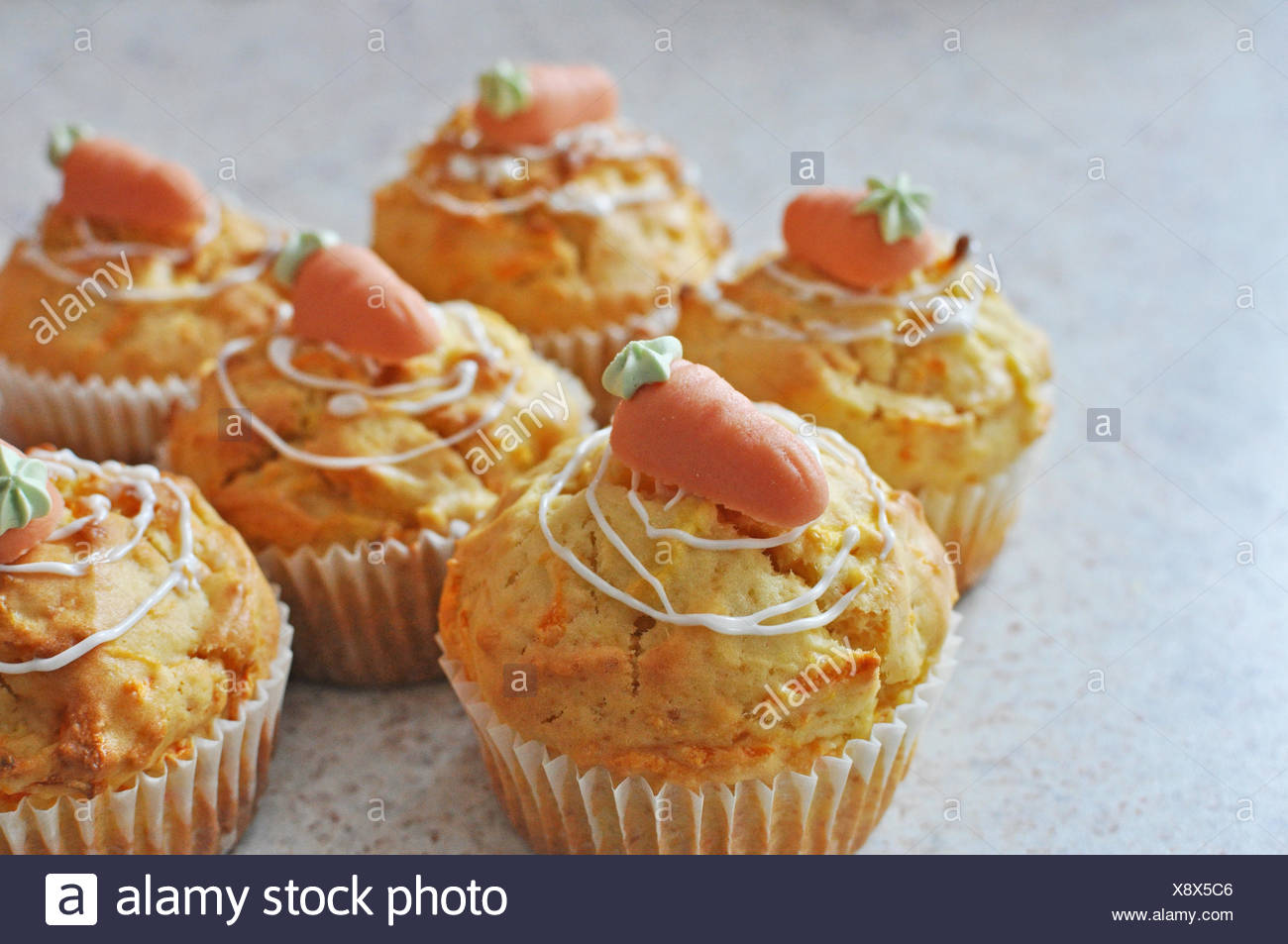 carrot muffins - Stock Image