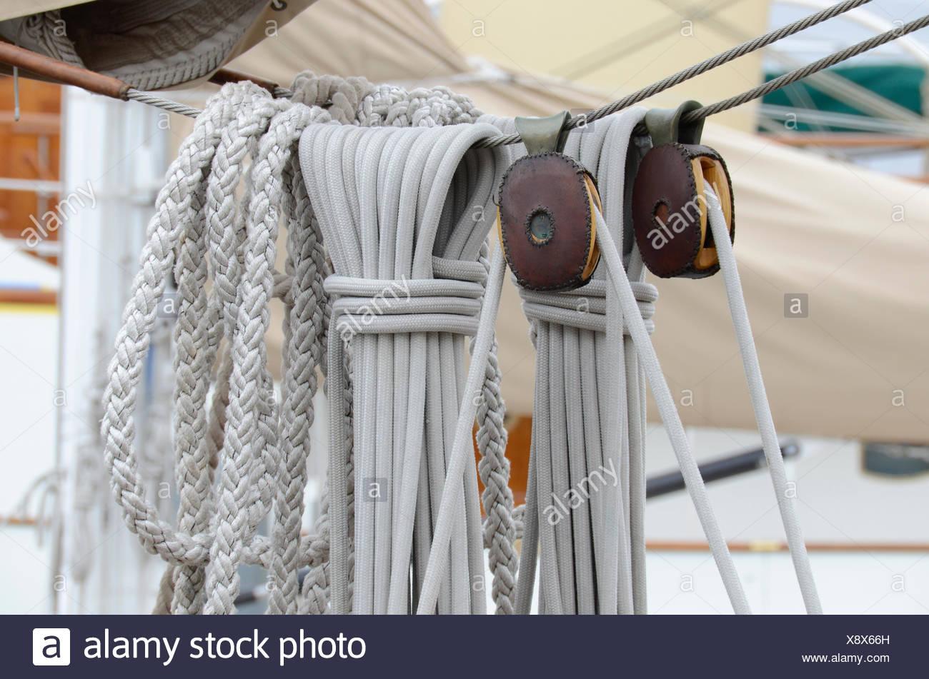 hardware, wood, leather, ropes, boating, pulley, hardware