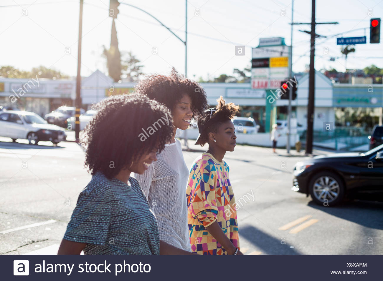 Three young women. - Stock Image