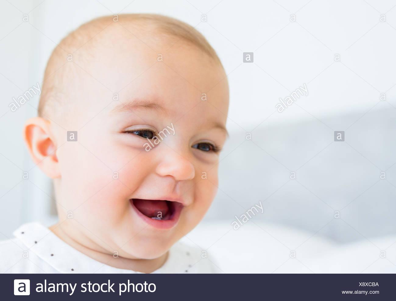 c3f8370e4 Closeup portrait of a smiling cute baby Stock Photo: 280863614 - Alamy