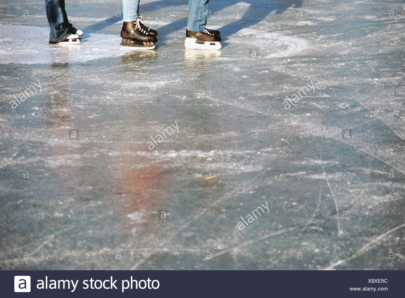 Ice skaters - Stock Image