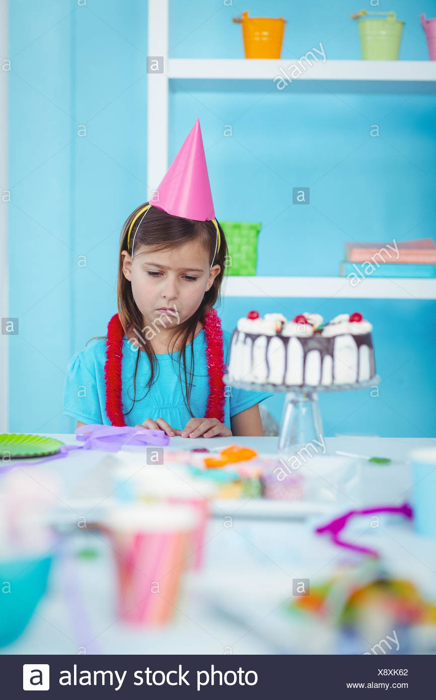 Sad Kid Alone At Her Birthday