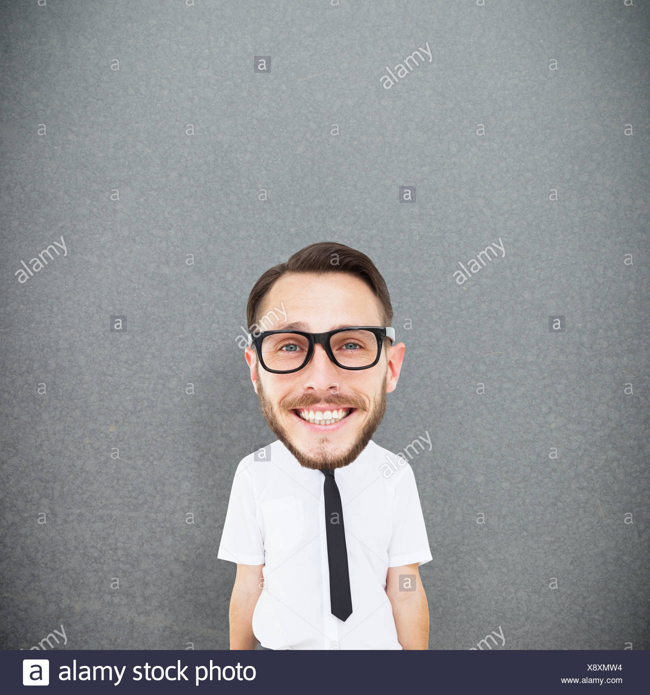 Composite image of geeky businessman - Stock Image