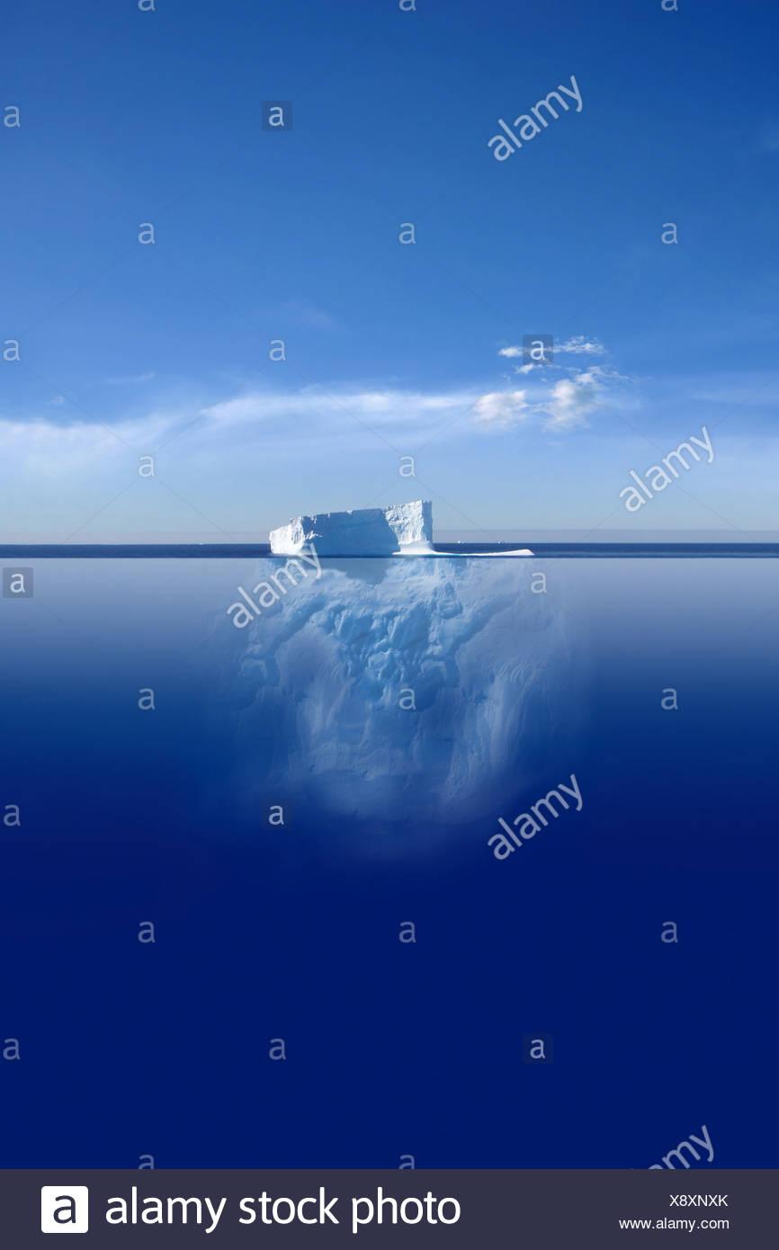 antarctica,iceberg,global warming - Stock Image