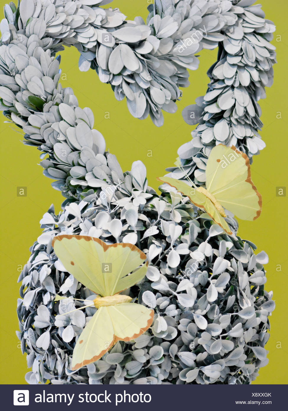 Ornament decorated with butterflies, Sweden. - Stock Image