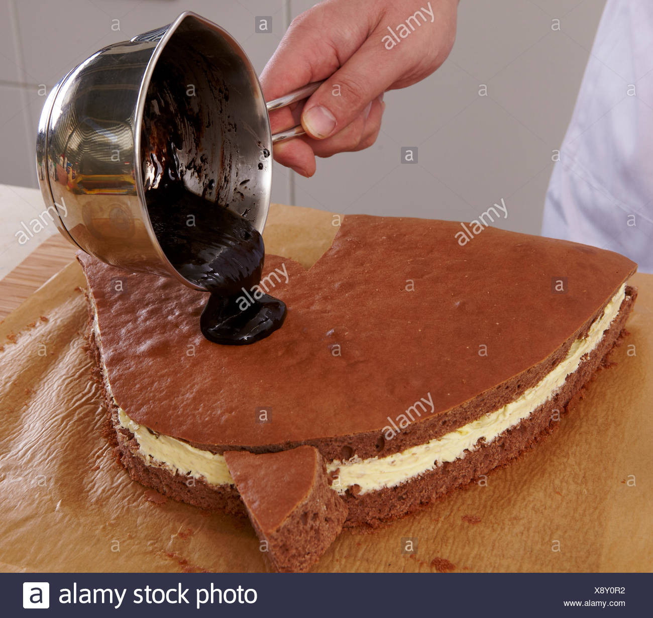 Horse Cake Steps Stock Photo Alamy