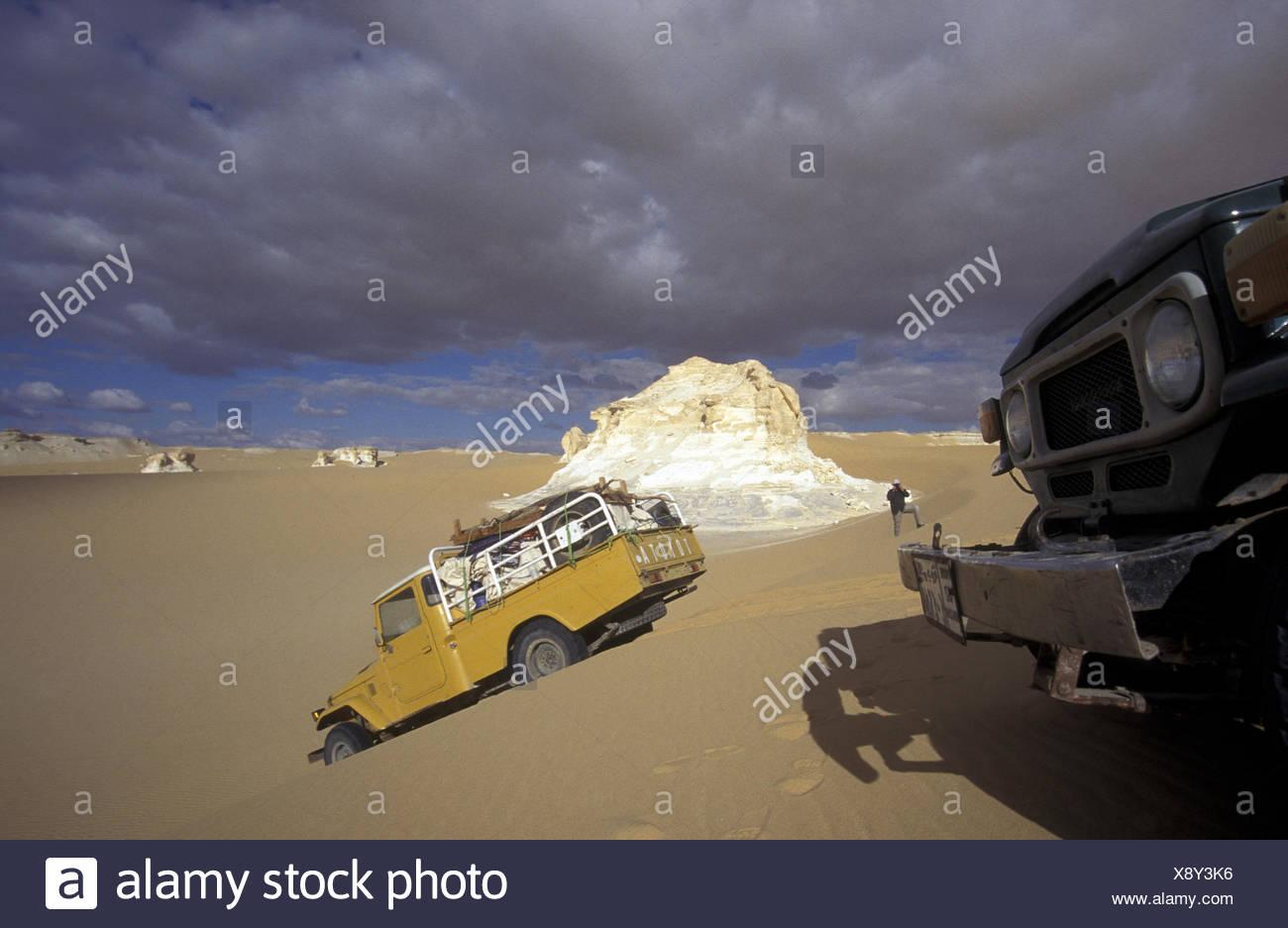 AFRICA EGYPT SAHARA FARAFRA WHITE DESERT - Stock Image