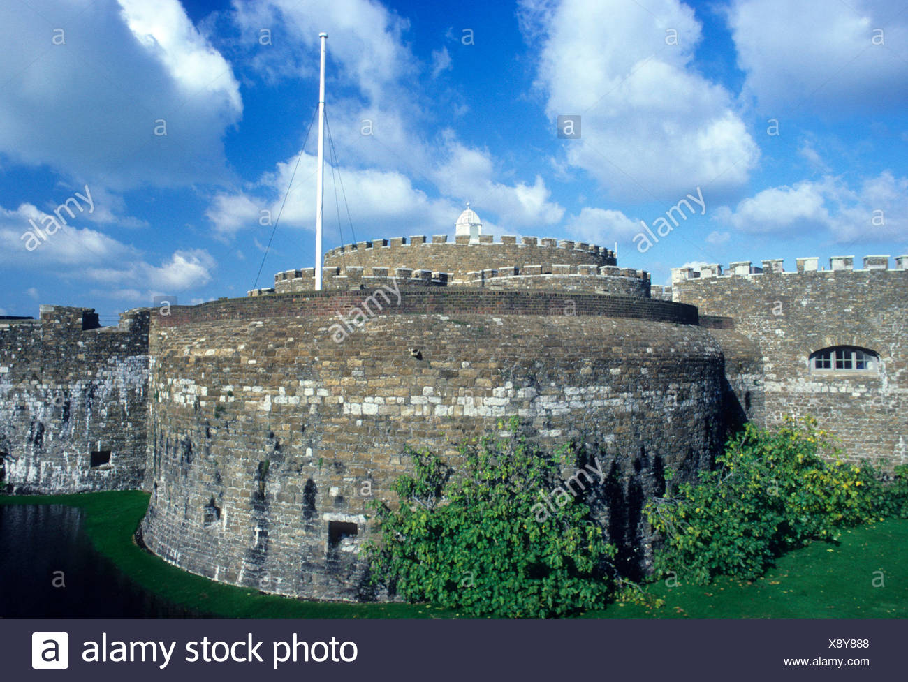 Deal Castle Kent 16th century King Henry 8th English Channel defence defensive moated England UK - Stock Image