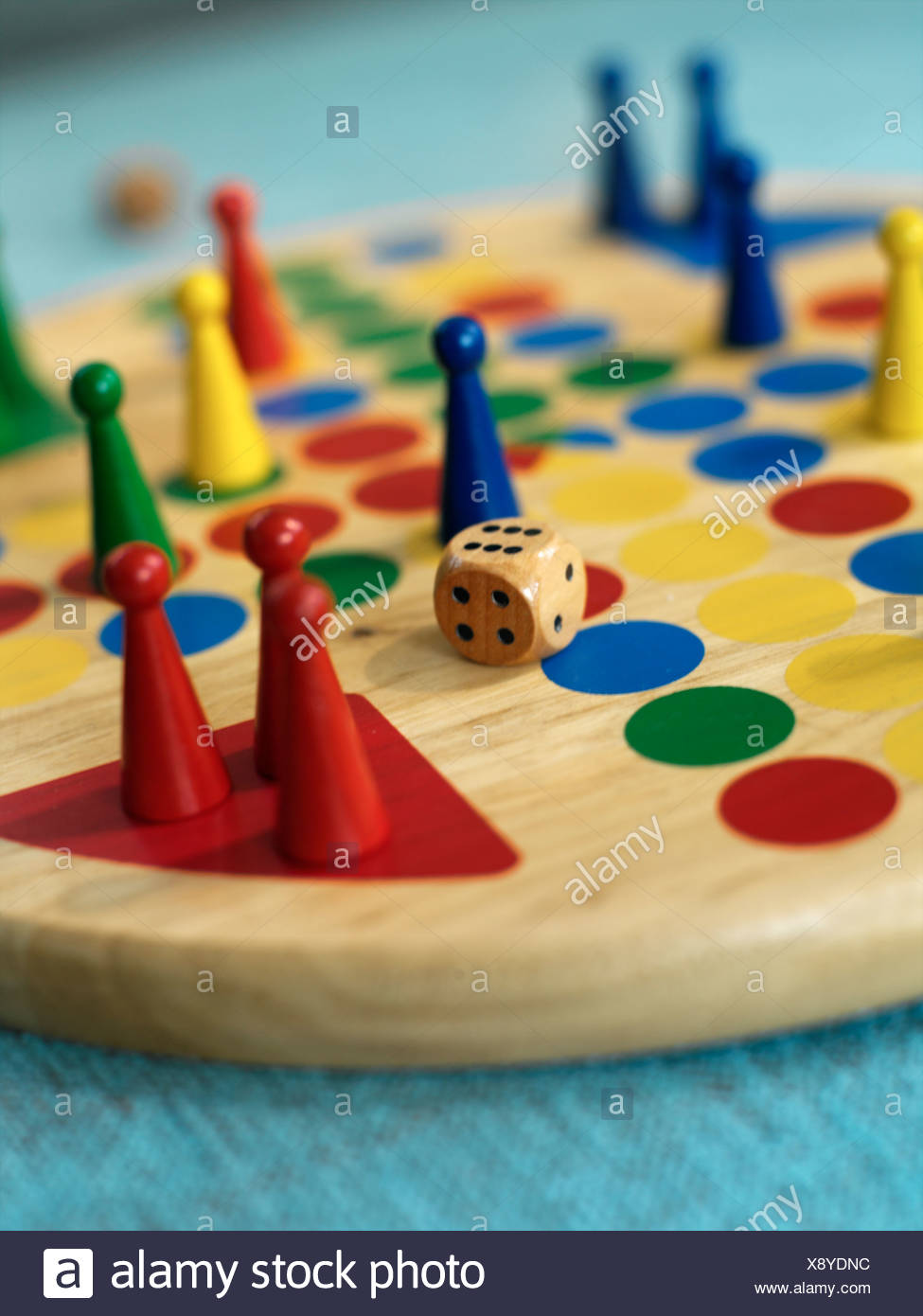 Close-op on a ludo. - Stock Image