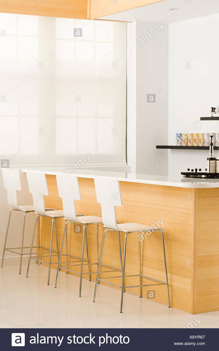 Bar at a health spa Stock Photo