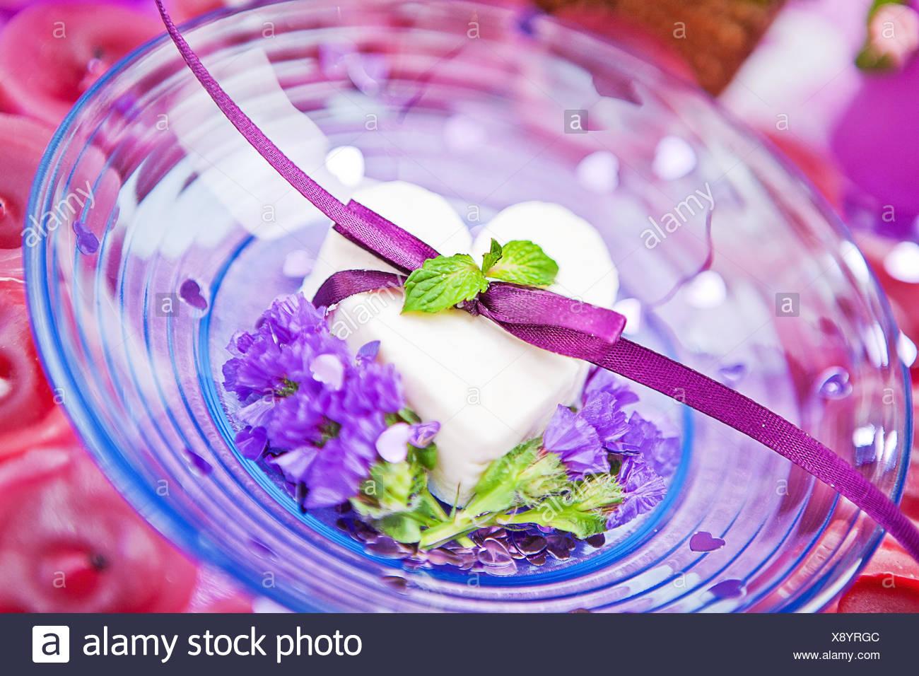 Dessert for st. Valentine Day - Stock Image