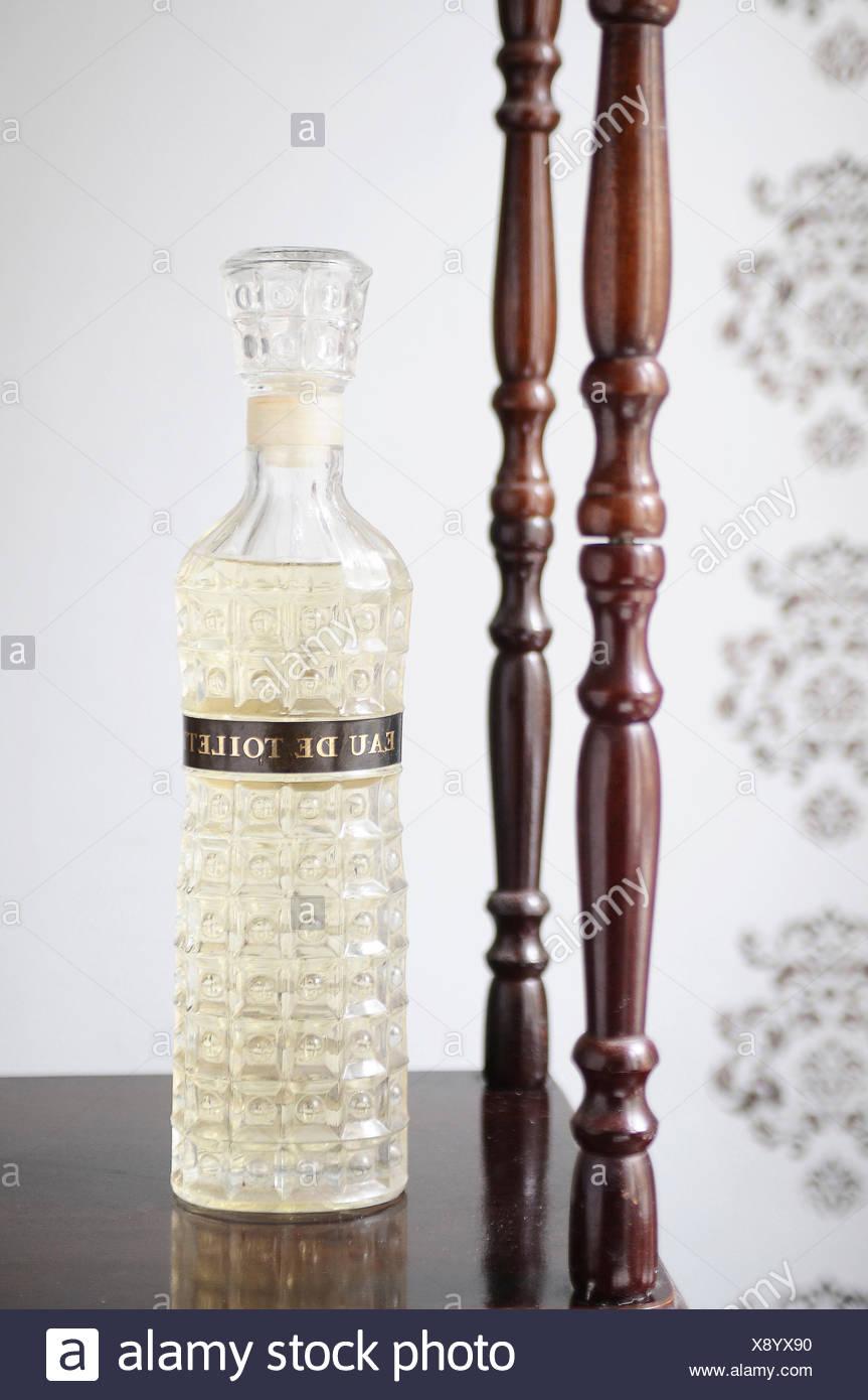 Flacon, perfume, fragrance, eau de toilette, - Stock Image