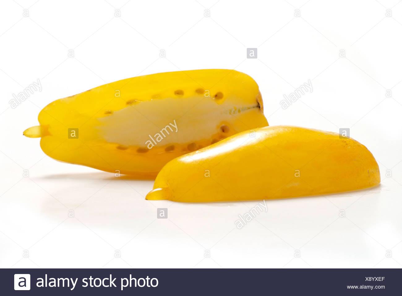Tomato varieties: yellow  Banana Legs - Stock Image