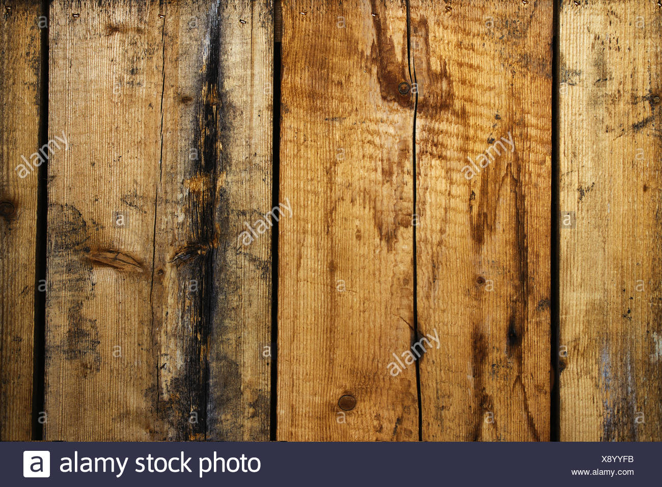 Rough wooden planks texture - Stock Image