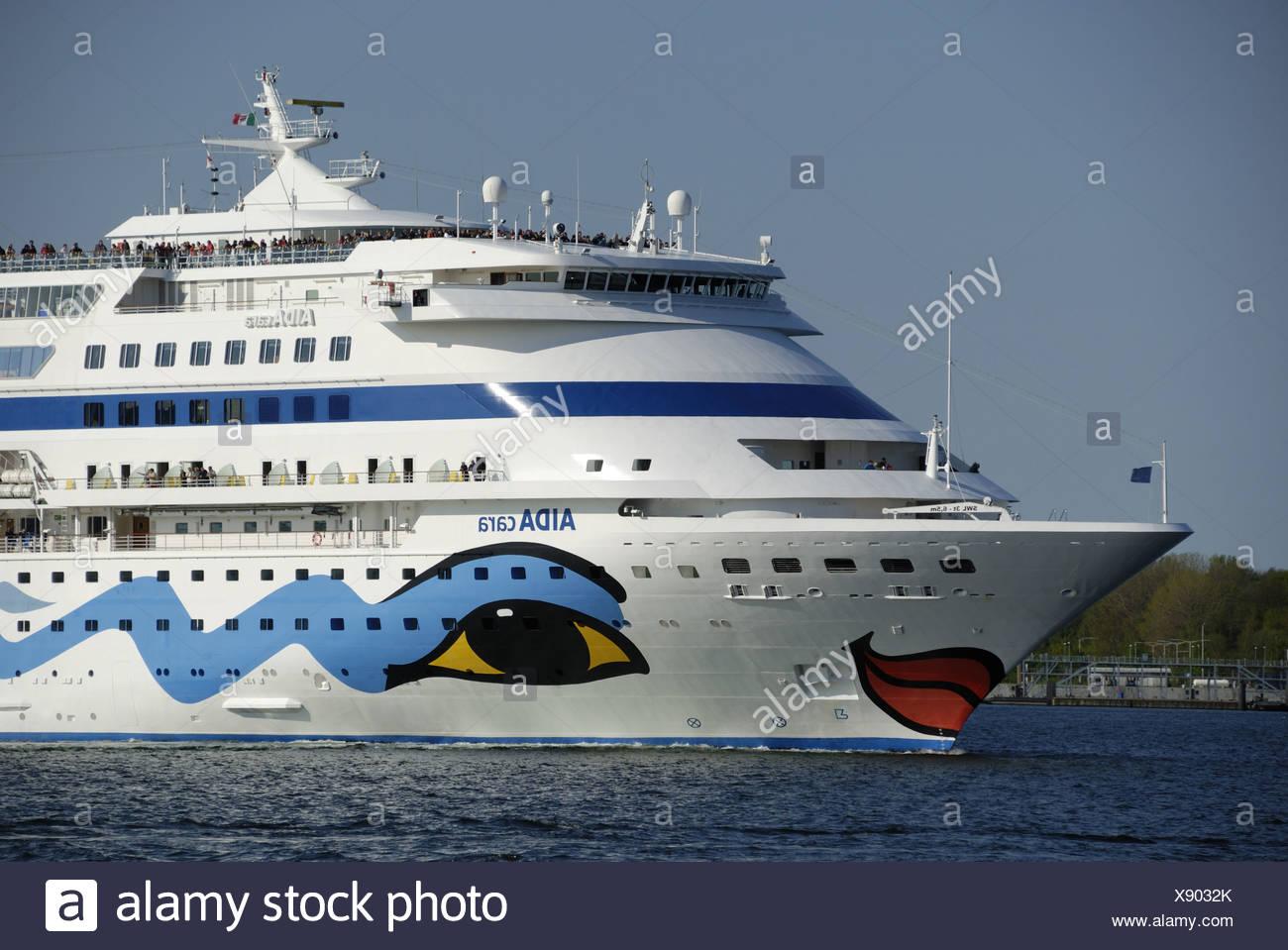MS AIDA cara in Kiel - Stock Image