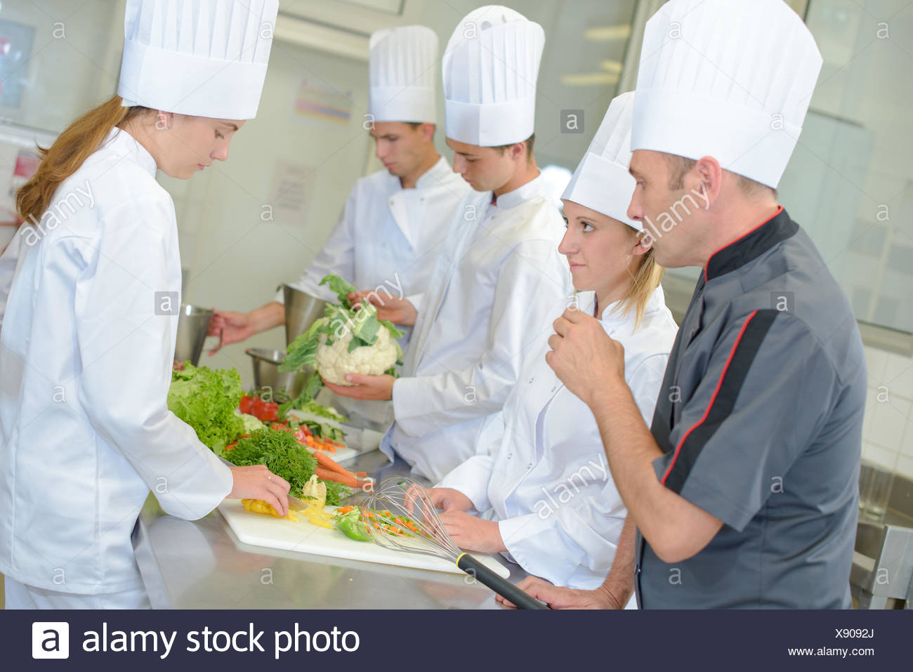 food preparation - Stock Image