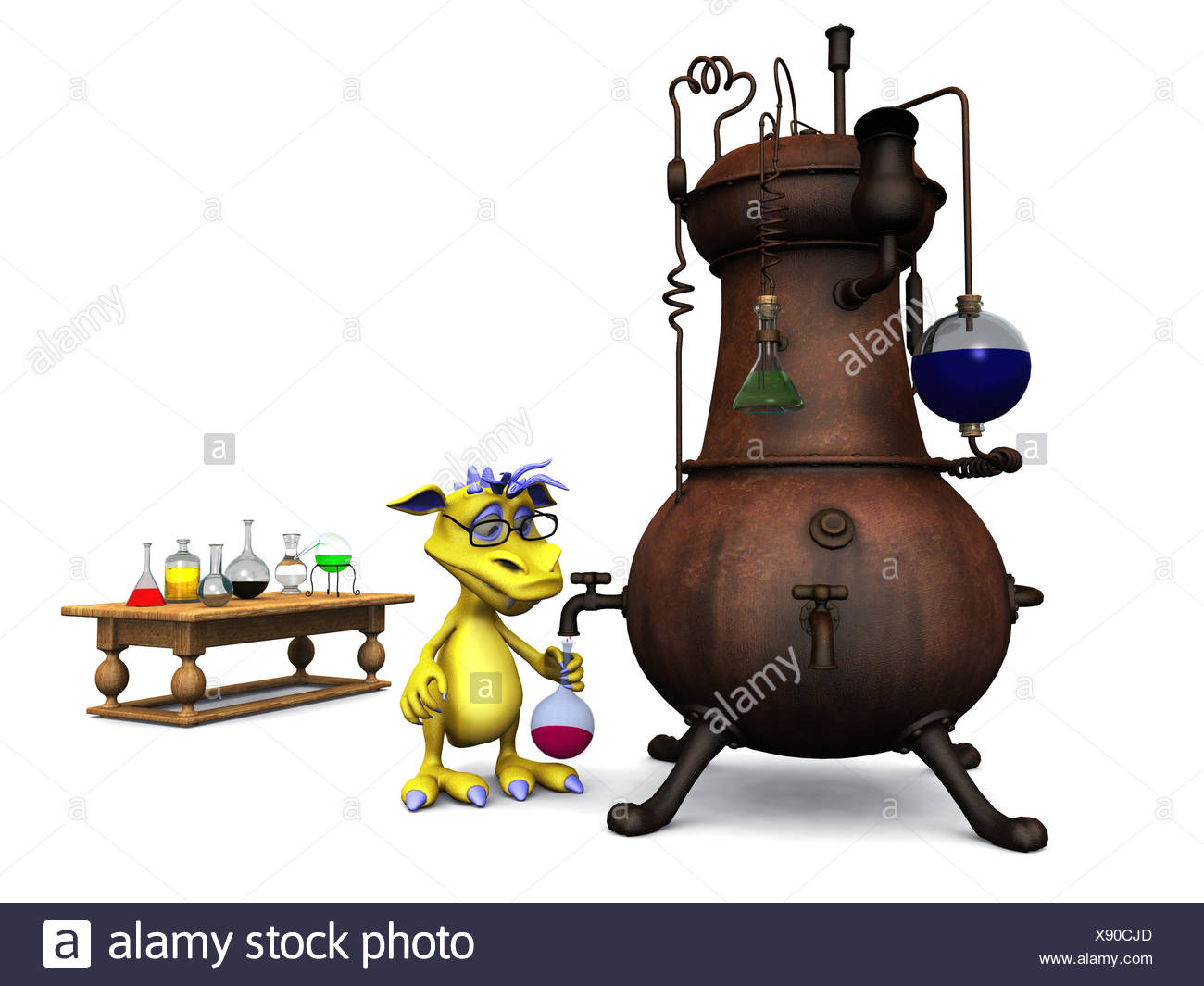 Cartoon Science Beaker Stock Photos & Cartoon Science Beaker Stock