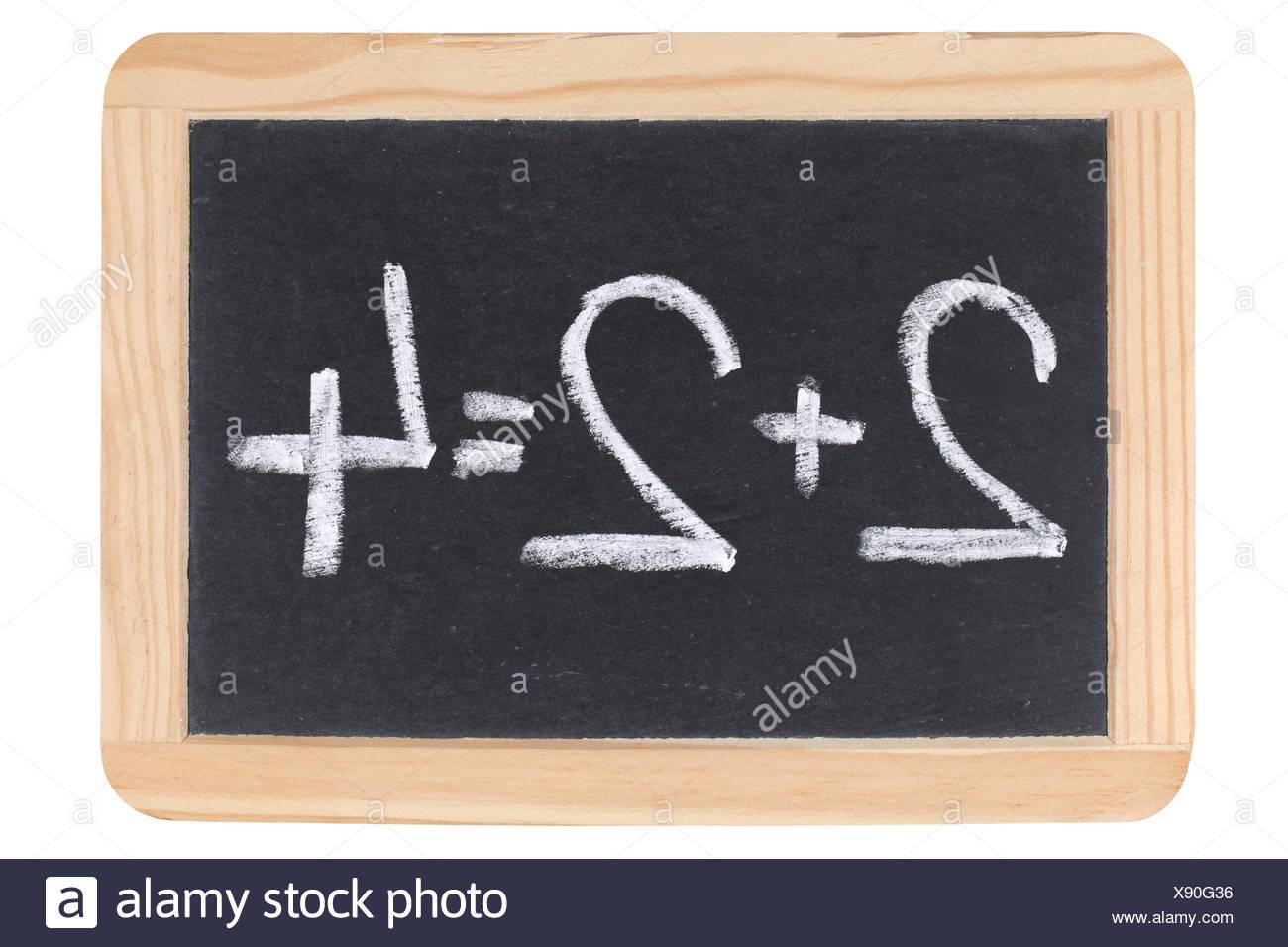 Mathematik auf einer Tafel Stock Photo