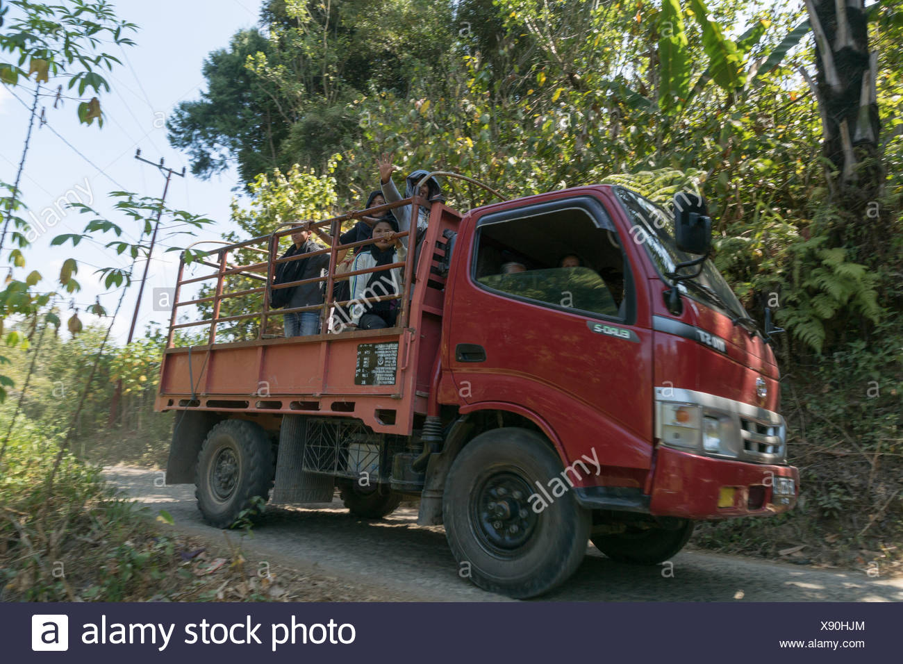 Indonesia, Sulawesi Selatan, Toraja Utara, person transport - Stock Image