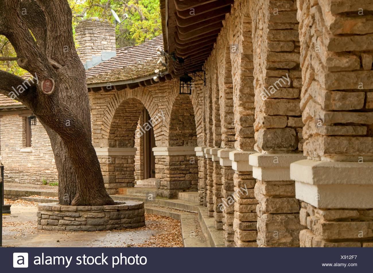 The Pavilion (Civilian Conservation Corps), Garner State Park, Texas. - Stock Image