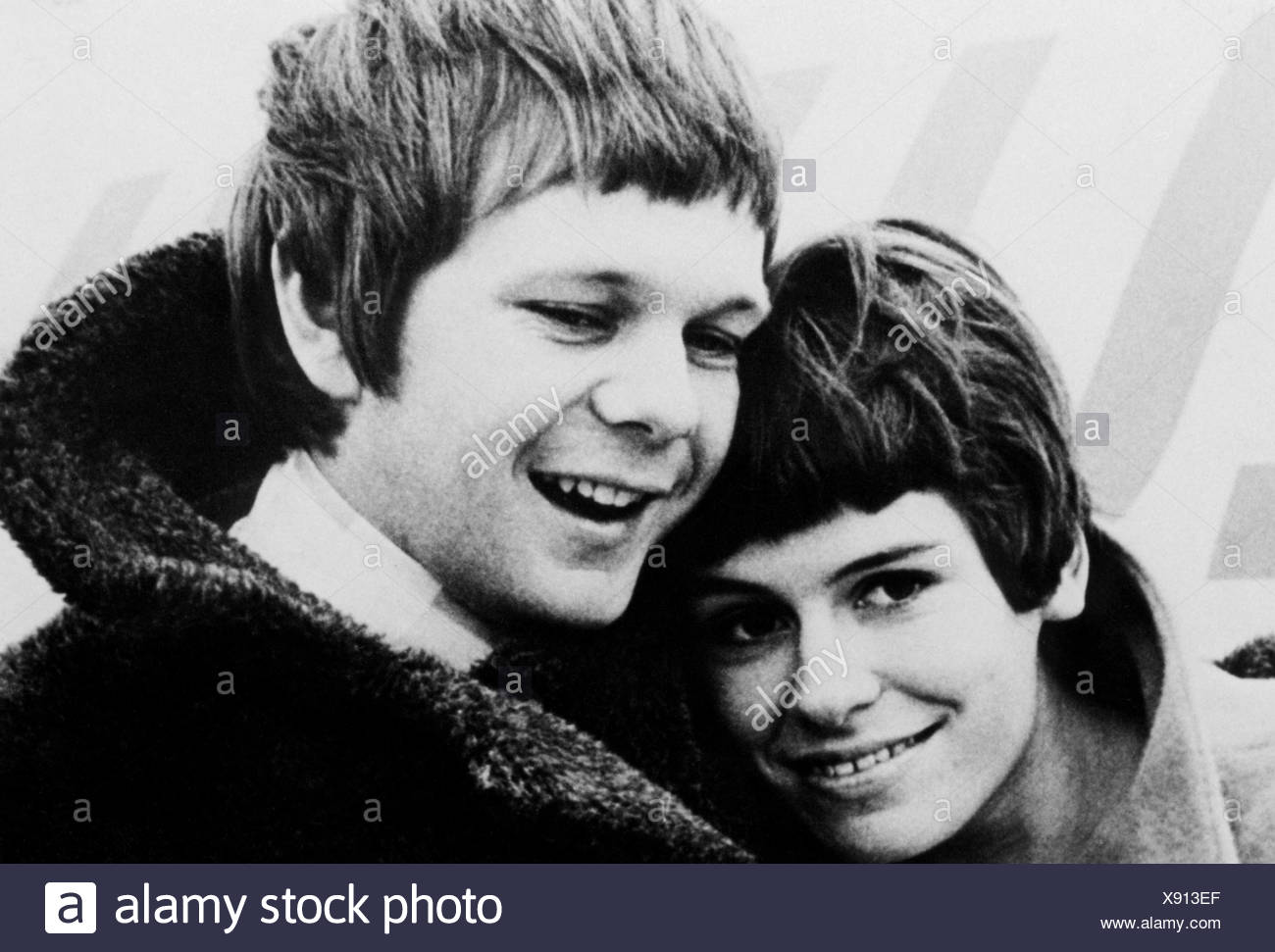 Bonney, Graham, * 2.6.1943, British singer, with Mary Roos, 1967, Stock Photo