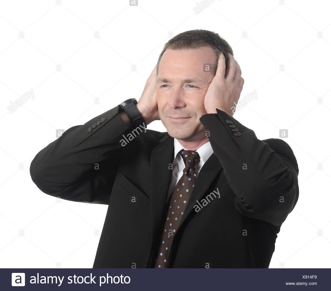 annoyed businessman - Stock Image