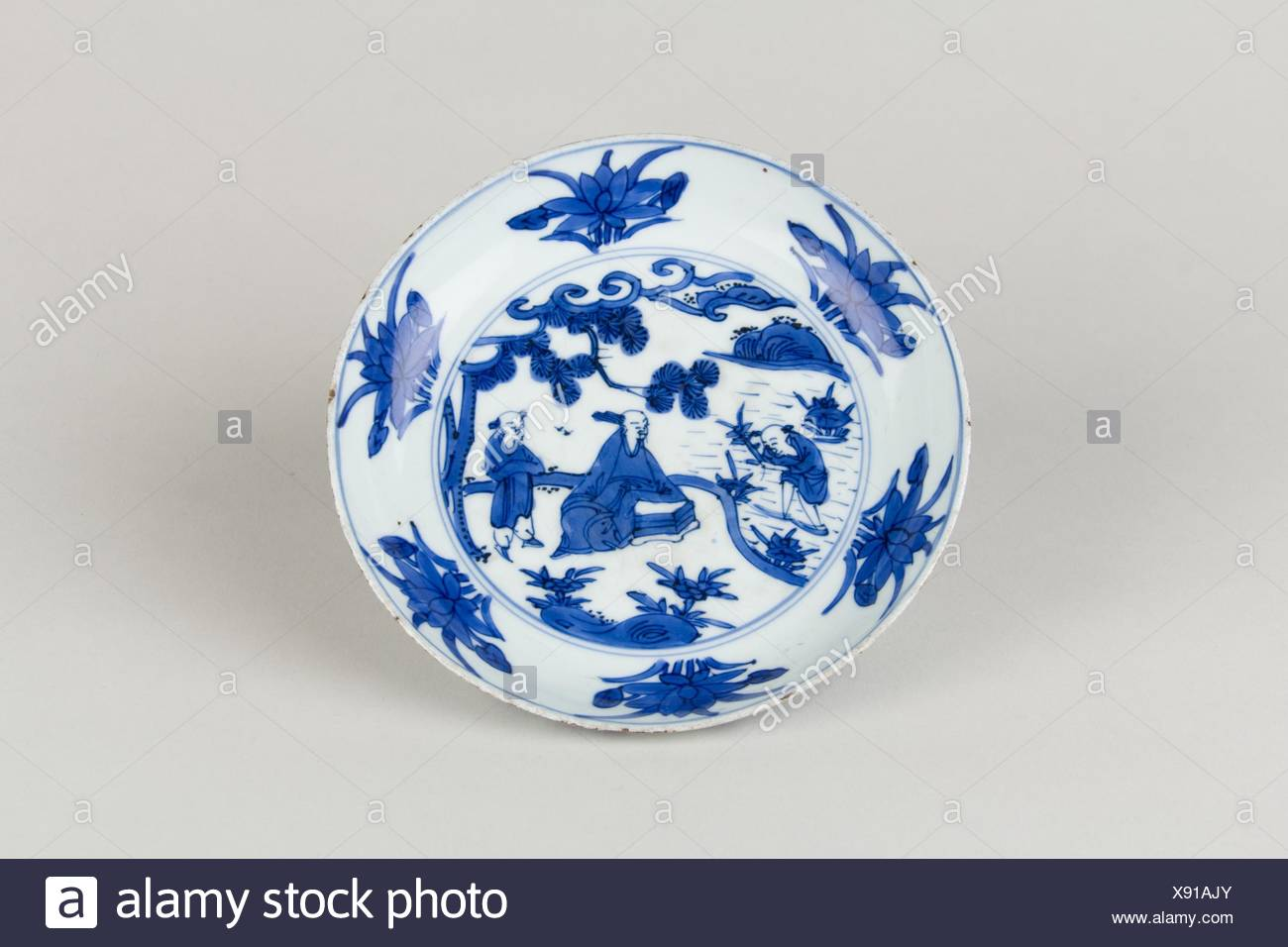 Period: Ming dynasty (1368-1644), Wanli mark and period (1573-1620);  Culture: China; Medium: Porcelain painted in underglaze blue; Dimensions: