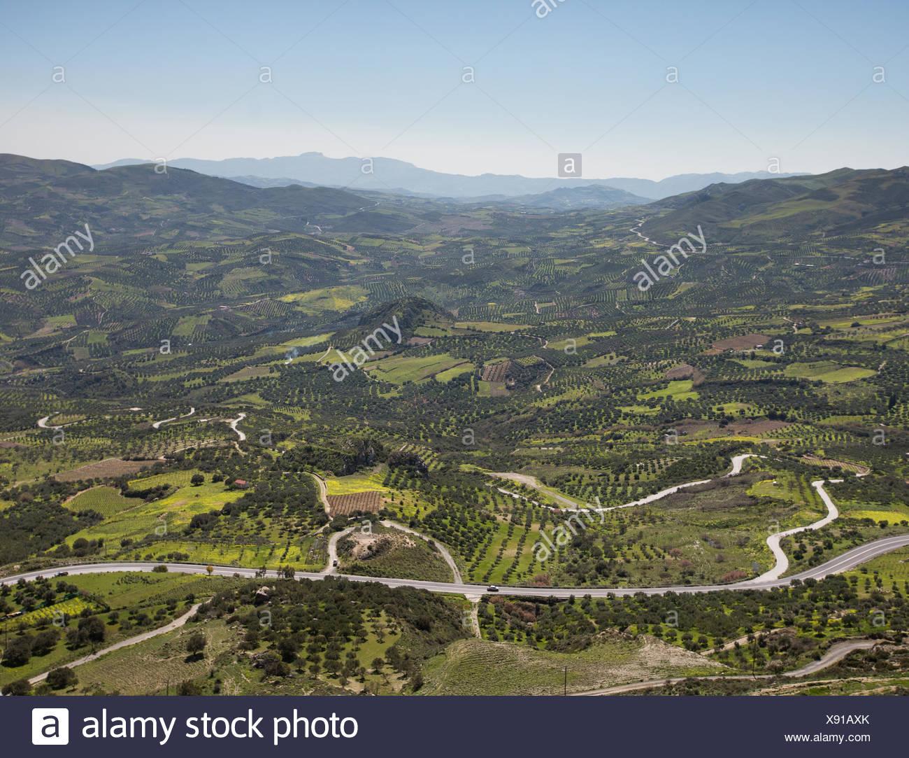 View over central Crete. Stock Photo