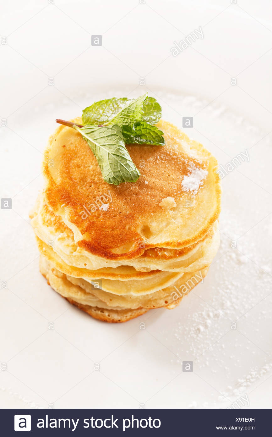 tasty pancakes - Stock Image