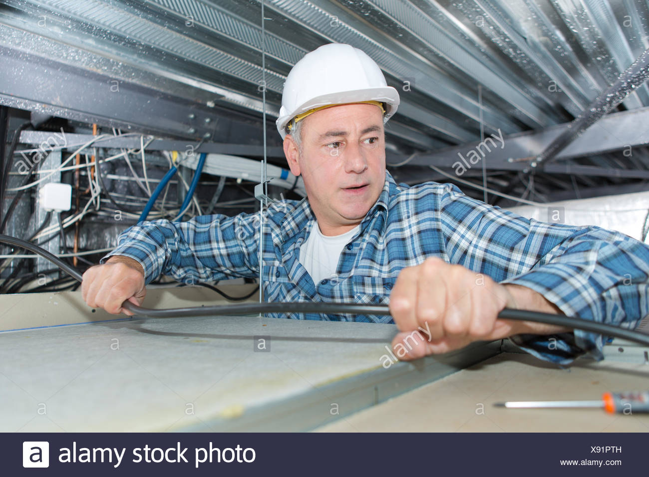 Electric Construction Power Danger Electrical Electrician Install ...