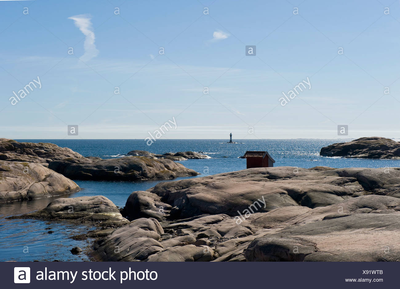 View over water - Stock Image