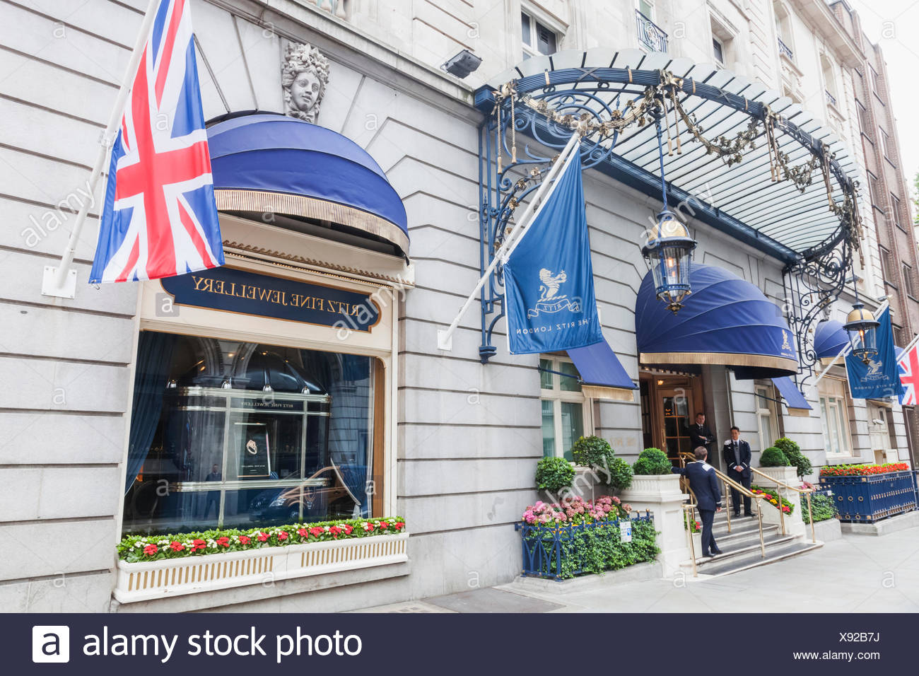 England, London, Piccadilly, The Ritz Hotel - Stock Image