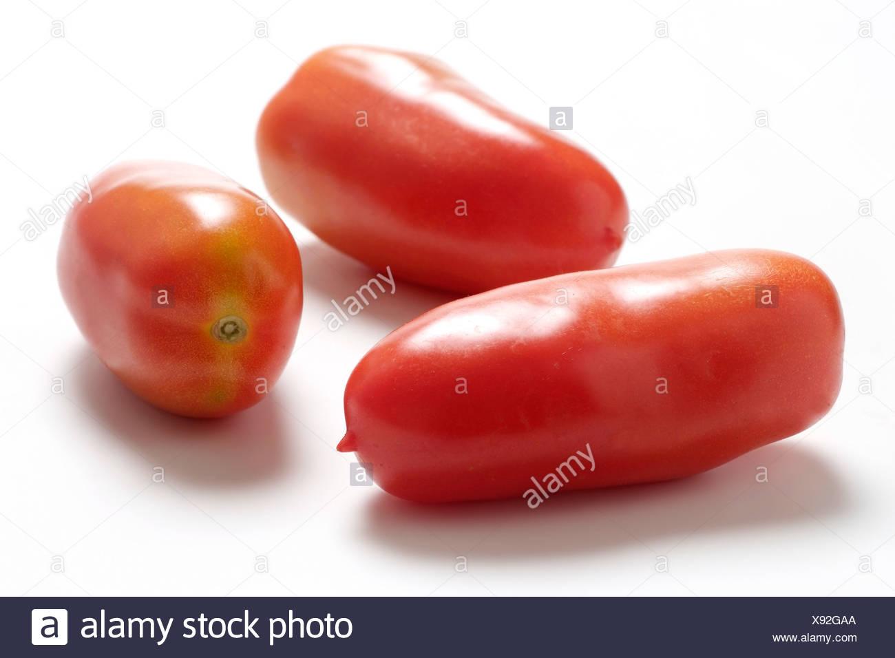 Tomato varieties: San Marzano - Stock Image