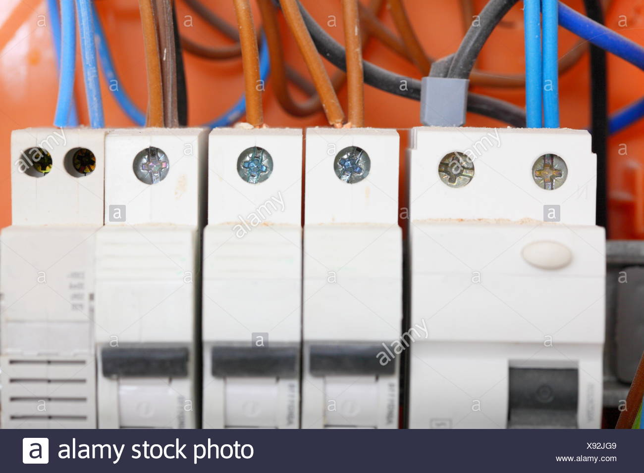 Electrical Contactors Stock Photos Fuse Electric Panel Boxes Box With Fuses And Image