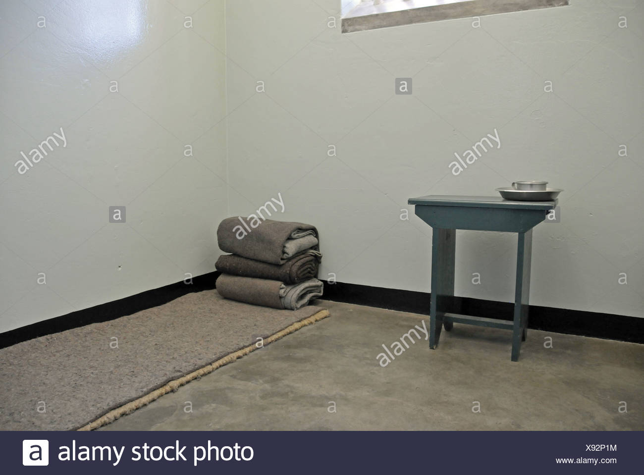 Mandela, Nelson, 18.7.1918 - 5.12.2013, South African politician (ANC), his former prison cell on Robben Island, Additional-Rights-Clearances-NA - Stock Image