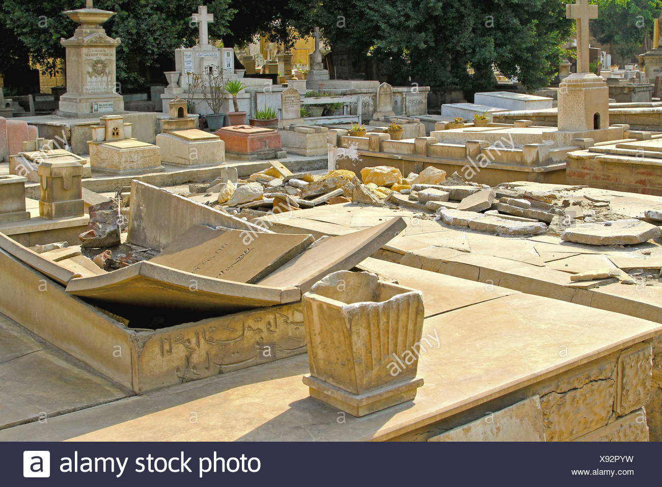 Desecrated Tombs - Stock Image