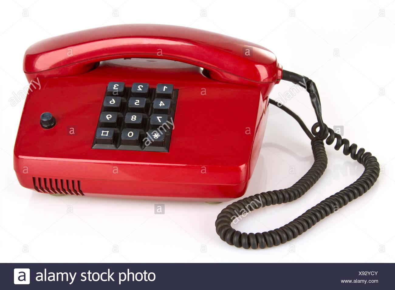 Retro Telefon auf hellem Hintergrund - Stock Image