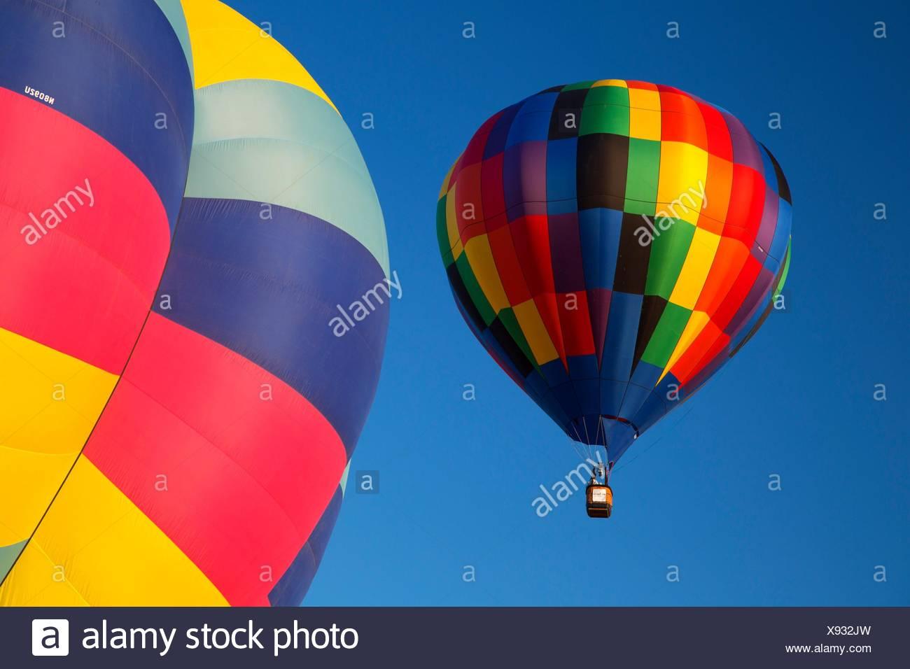 Hot air balloon, Northwest Art and Air Festival, Timber Linn Park, Albany, Oregon. - Stock Image