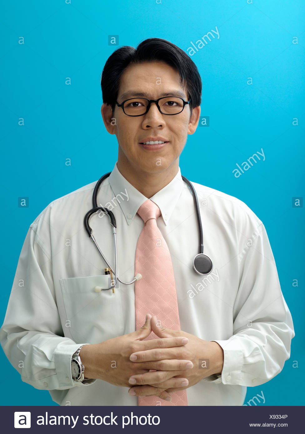 Portrait of a doctor - Stock Image