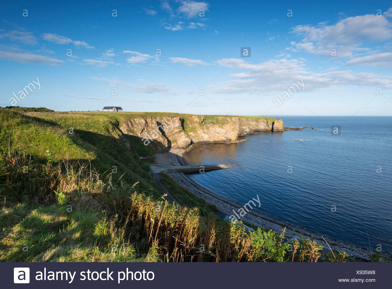 Cliff, Brough Bay near Dunnet Head peninsula, Caithness County, Scotland, United Kingdom, Europe - Stock Image