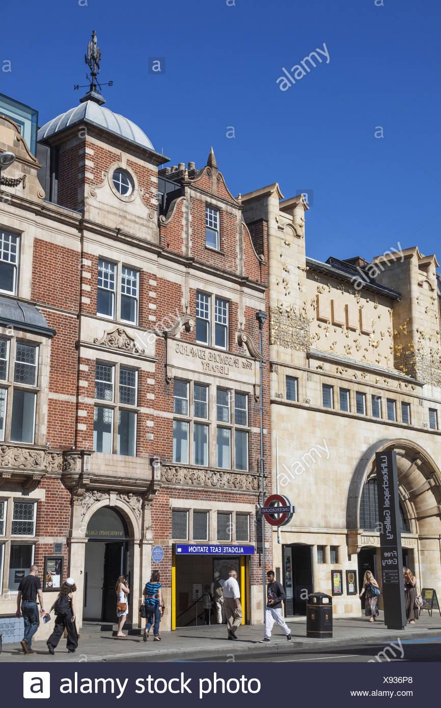 England, London, Whitechapel, Aldgate, Whitechapel kind of Gallery, Stock Photo