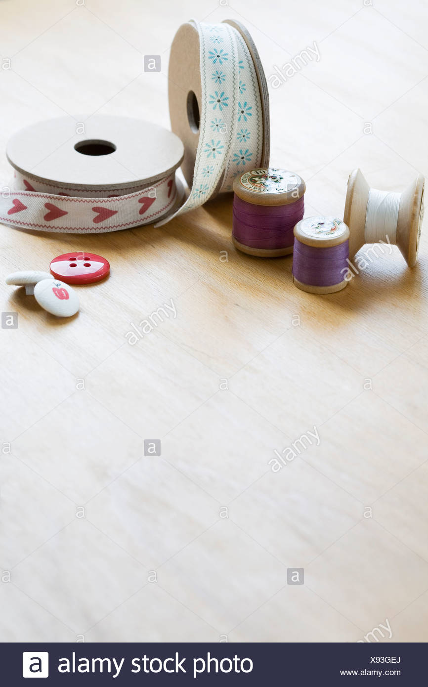 Crafts and sewing materials - Stock Image