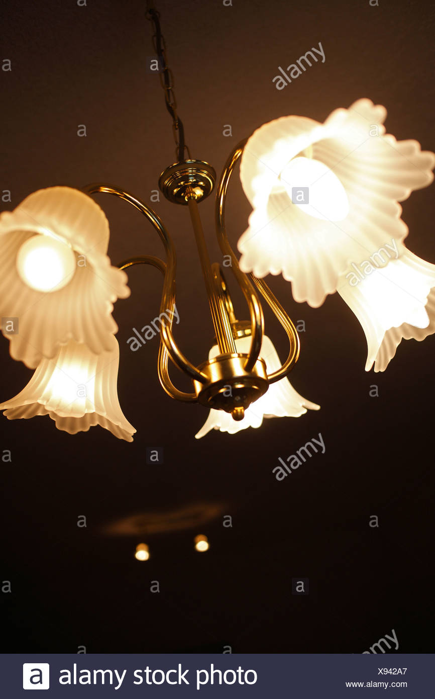Schalkau, Germany, a corny ceiling lamp - Stock Image