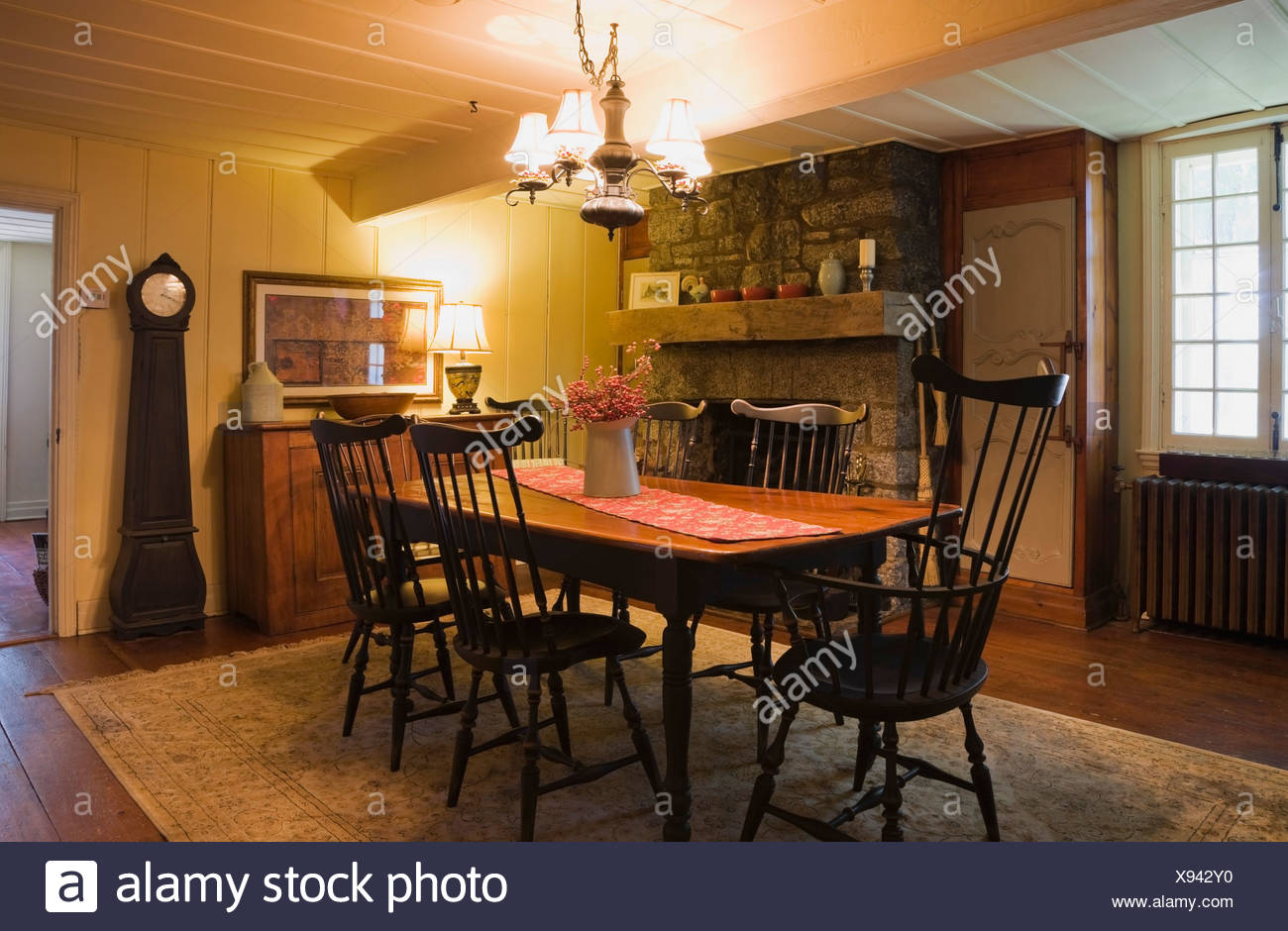 Dining Room Of An Early 18th Century Home Quebec Canada