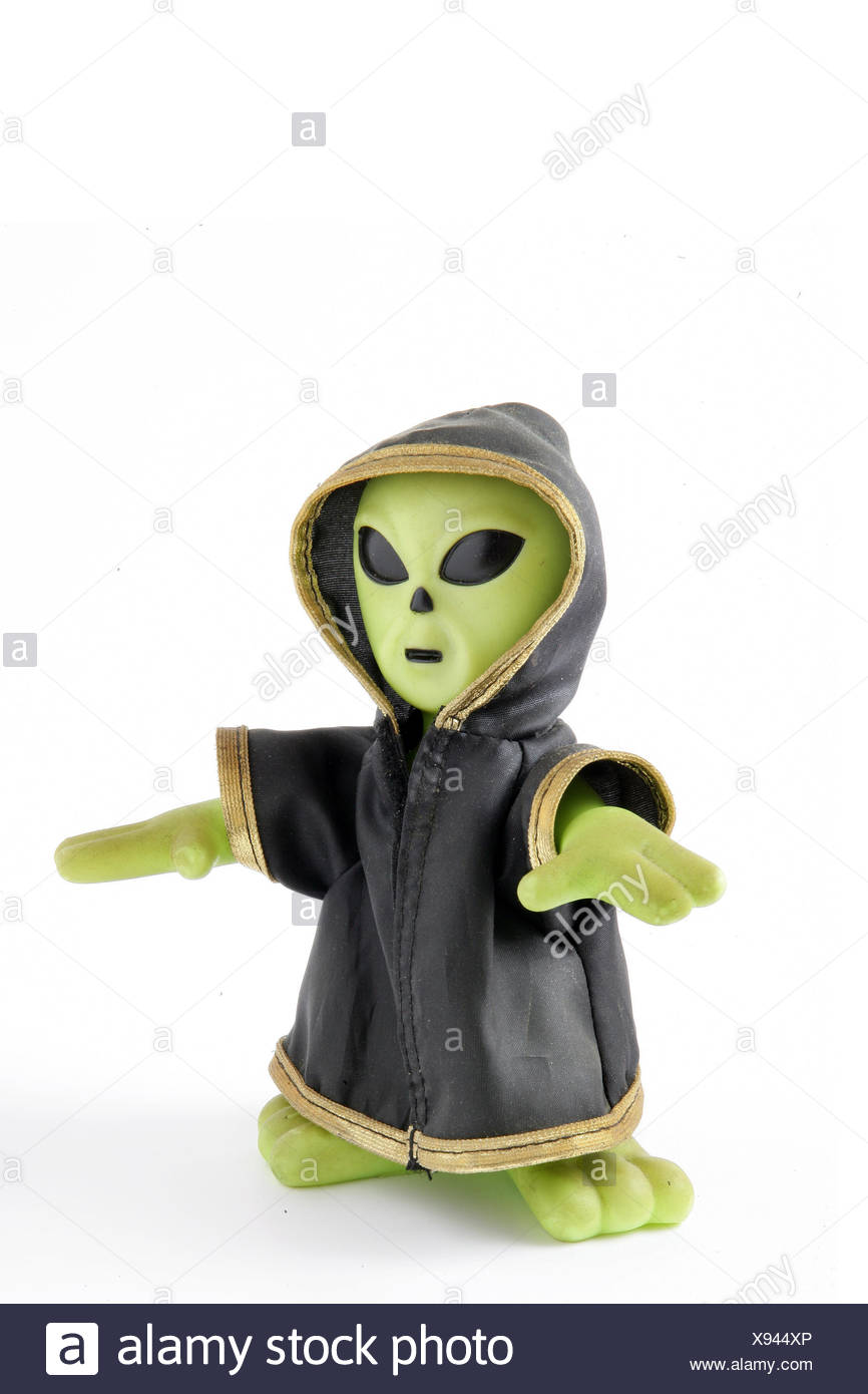 object vertical plastic synthetic material extraterrestrial martian child game - Stock Image