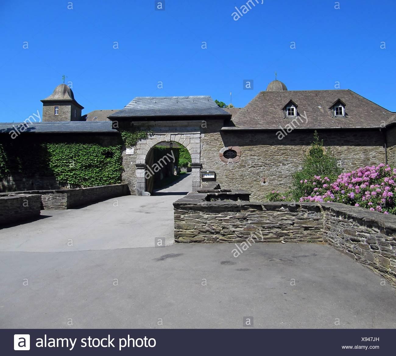 chateau, castle, chateau, castle, burg schnellenberg, attendorn, sauerland, Stock Photo