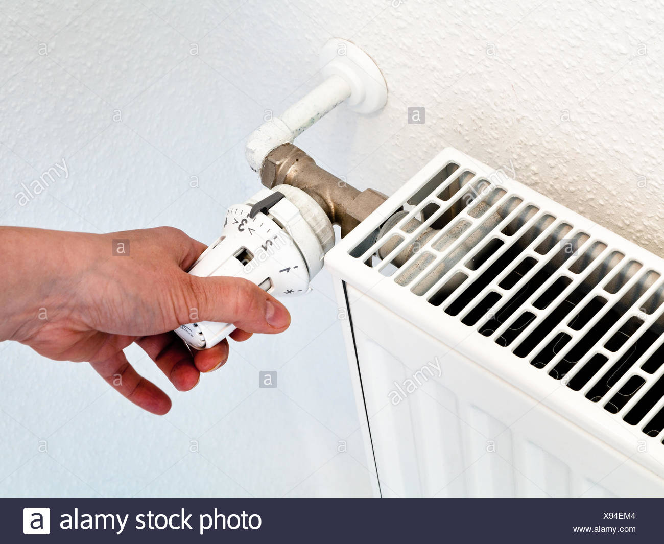 Individual Room Temperature Control Stock Photos Controller Of Home By Rotation The Radiator Thermostat Image
