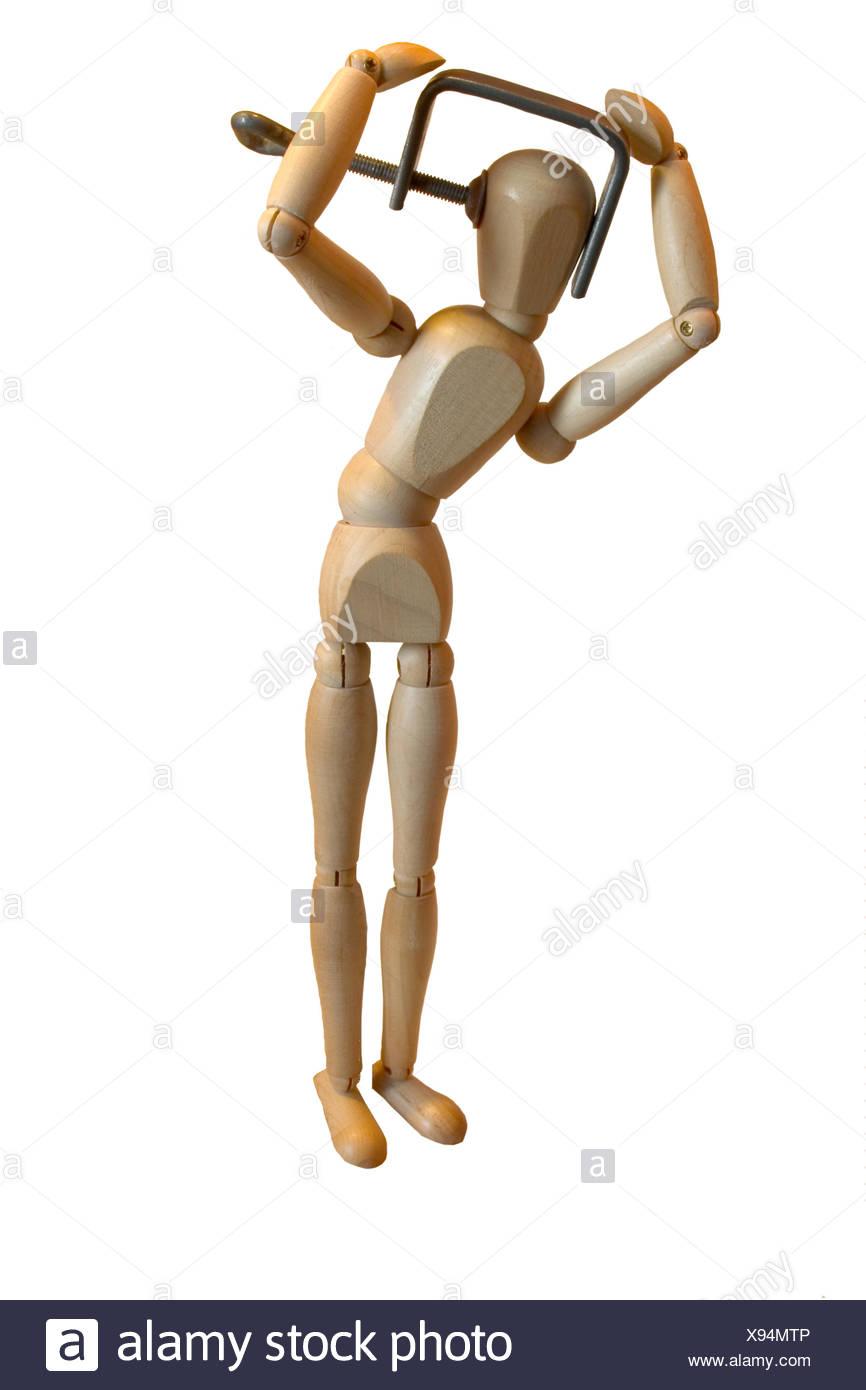 optional pain print - Stock Image