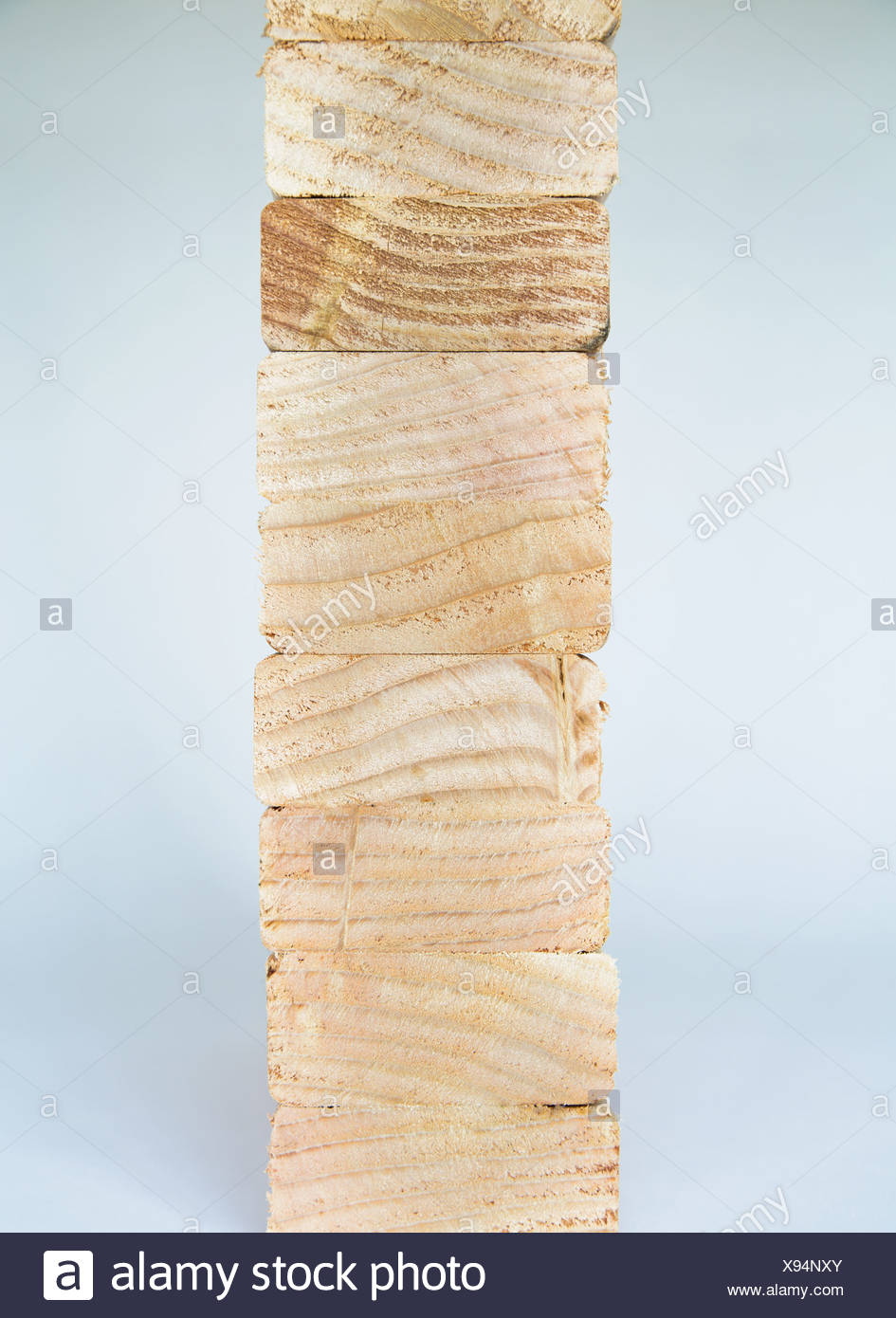 Washington State USA sawn prepared timber spruce wood planks or studs - Stock Image