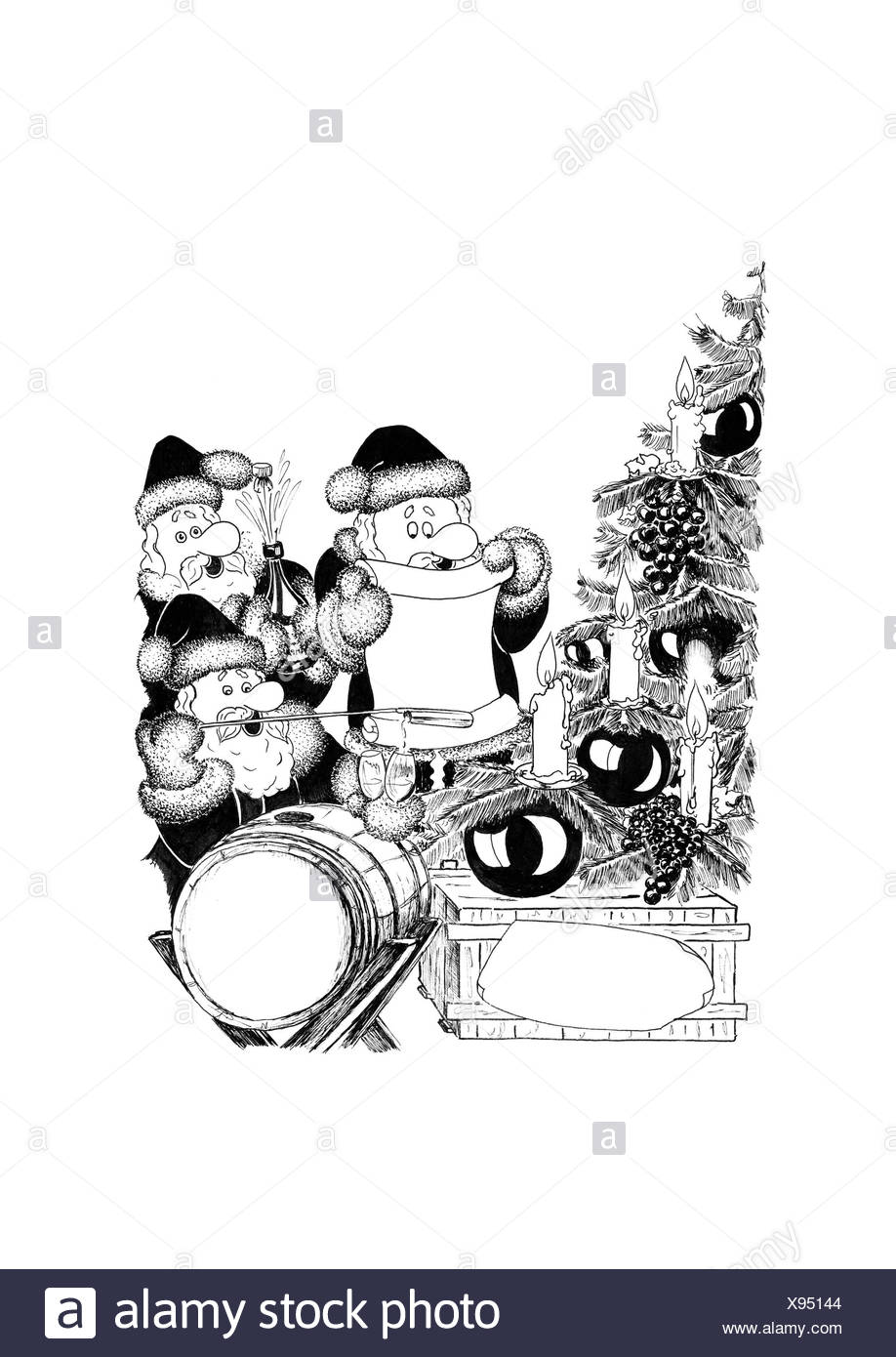 Singing Christmas Black and White Stock Photos & Images - Alamy